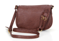 New retro Hobo leather women handbag,Long strap cross body bag  for teenagers satchels gismo causal students shoulder bag