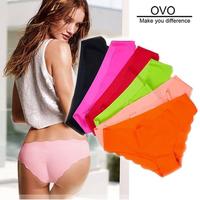 OVO!Shorts 2014 new panties girl fashion briefs lady underwear women sex Lace Ultra-thin No trace Leopard 3pcs/lot free shipping