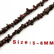 Wholesale Natural Stone Beads Dark Red Garnet Irregular Bead Fit Diy Charm Bracelet Strand 88cm Free