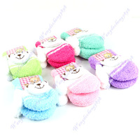 Free Shipping!Dual Color  Mitten Gloves &  Cartoon Design Kids Gloves boys girls and baby gloves 3pairs/lot mixed color