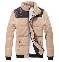 Free shipping  2013 Korean thickened men's cotton padded jacket man men jacket  XXXL #X0400