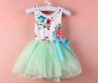 Up $199 Mix order EMS/FEDEX to AU/US/UK/NL  girl dress dresses  kid apparel tutu  flowers kids cotton lace ,13APR149