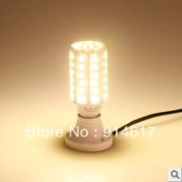 15W E27 60 5630 SMD 1800LM 360 degree LED Corn Bulb 220V Warm White / white High Luminous Efficiency led Light Lamp freeshipping