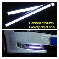 High Power COB CAR Daytime Running Lights DRL  DIY 12V 6W Aluminum LED Waterproof Fog  Singapore Post Free Shipping