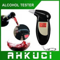 Free Shipping, Key Chain Alcohol Tester, Digital Breathalyzer, Alcohol Breath Analyze Tester (0.19% BAC Max) , Wholesale