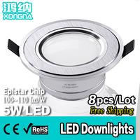 Free Shipping, 8pcs/Lot, 5W LED Down Lights Anti-Fog High Power LED Downlight 5W Warm White(3000~3200K)\Cold White(6000~6500K)