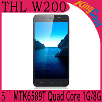 "Free Shipping Original THL W200 MTK6589T 1.5GHz Android phones 4.2 OS Quad Core 1G Ram 8GB ROM 5"" HD Screen 8.0Mp Camera"