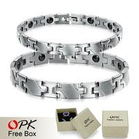 OPK JEWELRY Anti-fatigue stainless steel magnetic bracelet Power Balance Healthy bracelet for women/ men 3242