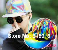 2014 fashion style back to the future baseball cap marty McFly color magic changing G-DRAGON GD snapback caps hat GD laser