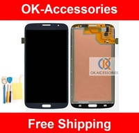 Touch Screen+LCD Digitizer Assembly For Samsung Galaxy Mega 6.3 I9200 I9205 And Screen Protector+Tools 1PC/Lot Free Shipping