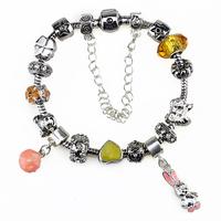 Christmas Promo,Free shipping,20%off,2pcs/lot,Newest lampwork glass beads bracelets ,women,Fashion gold crystal barcelet bangle