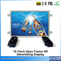 10.1 inch shopping shopping open frame H.264 media player USB SD lcd digital signage advertising monitor Guaranteed 100%