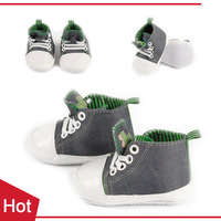 1pair New 2014 Canvas Gray Baby Boys Shoes Cross Tied Sneakers Kids Bebe Infant First Walkers For All Seasons -- ZYS17 PT05 ST
