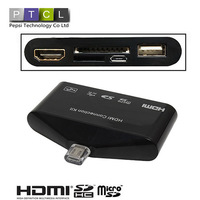 MHL to HDMI HDTV HD TV Adapter USB OTG Card Reader Camera Connection kit for Samsung Galaxy S3 I9300 S4 I9500 Note 2