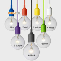 Free Shipping  Modern Fashional Silica Gel Pengdant Lamp,Colourful Wholesale Price Pendant Light For Home And Room Decor,1 piece