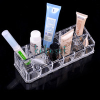 New Makeup Clear Acrylic Cosmetic Holder Organizer Brush Storage Box