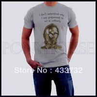 Star wars robot funny men t shirt /   top short-sleeve t-shirt / 2013 mens sport casual t shirt