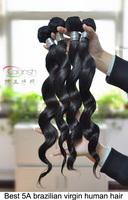 5A Brazilian Virgin Hair Loose Wave 4 Bundles / lot Queen Hair Products,100% Unprocessed Human Hair Extension