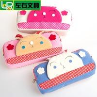 Fashion quality cute kawaii plush rabbit  pencil bag girls pencil case school pencil case bag stationery bag  gift pen kit pouch