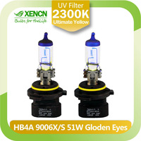 New XENCN HB4A 9006XS 12V51W 2300K Golden Eyes Super Yellow Light Visibility Plus Car Bulbs SYLVANIA Headlight Halogen Lamp 2pcs