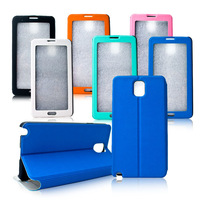 Newest  Full Flip Window Case for SamsungGalaxy Note 3 N9000 Touch Screen Leather Case 1pcs/lot  Free Shipping