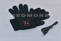 FREE SHIPPING factory supply bluetooth glove winter warm glove kintted screen touch