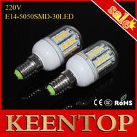 Brand Quality SMD E14 5050 30Led 220v  Led Corn Pendant Lights 7W Solar Bulb Chandelier Lamps Ceiling Light Spotlight 10Pcs/Lot