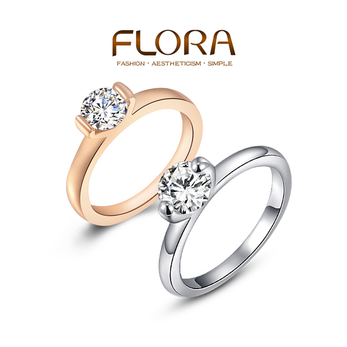 Super Deals Classic engagement ring 2 Claws 5mm AAA Swiss Arrows CZ Diamond Rings Jewelry
