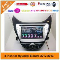 3G USB Car radio tape recorder for Hyundai Elantra 2012 with GPS,Bluetooth,Ipod,TV,Radio,free shipping