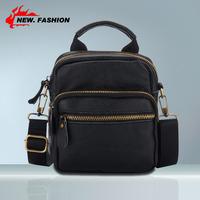 Hot Sale Free Shipping 2014 New Genuine Leather Bag Women Unisex Men's Messenger Bags Fashion Casual Shoulder Handbags For Man