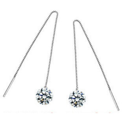 (Min order 5$ Mix) Wholesale Sale new 2013 Fashion jewelry bijoux Austria Irish Crystal 925 Sterling Silver Earrings For Women(China (Mainland))