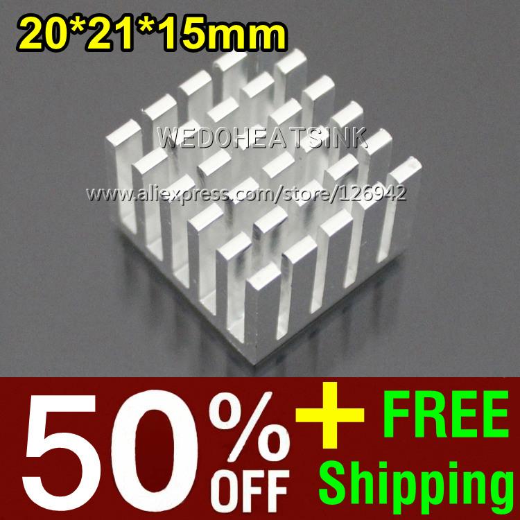 50% OFF + Free Shipping 2,000pcs 20*21*15mm High Power Chipset Heatsink Aluminum Radiator Cooler(China (Mainland))