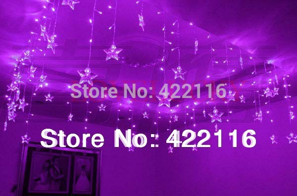 LED STRING Strip Festival Holiday Curtain LIGHT for WEDDING,Decoration 3.5m 100SMD 16 Stars 110V/220V EU/US/UK/AU Plug,(China (Mainland))