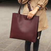2013  women leather handbags designer laptop bag classic vintage brief fashion totes shoulder handbag women's handbag