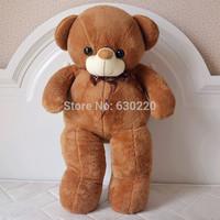 Wholesale 75cm big size giant teddy bear plush toy for girls birthday gifts kawaii Chocolate bear Doll Free shipping