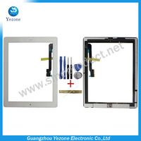 Brand New Quality White Color Touch Screen For Apple ipad 3 4 For ipad3 ipad4 Touch Digitizer Screen Glass + Tools+Home button