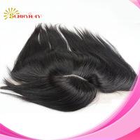 grade 6a 100%Peruvian virgin hair silk top lace frontal with bang 13x4