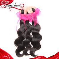 6a Grade 4pcs lot Malaysian Body Wave human hair weave wavy longqi beauty hair unprocessed malaysian virgin hair LQMBW001