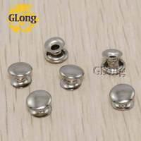 100pcs 7*3mm Round Double Rivet Stud Collision Nail Spike Metal For DIY Leathercraft Shoes Bag Belt Garment Bracelet #GZ015-7S
