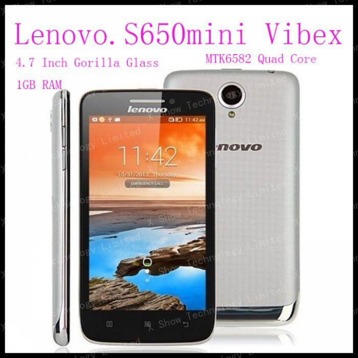 "freeshipping lenovo S650 mini VIBEX Quad core 4.7"" 4.7 Inch Gorilla Glass 1GB RAM 8MP camera Dual SIM GPS Android 4.2 phone(China (Mainland))"