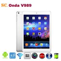 Allwinner A80T Octa Core ONDA V989 Tablet PC 9.7 Inch Retina 2048*1536 Android 4.4 2GB 32GB Bluetooth 8MP Camera HDMI
