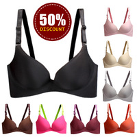 2013 sexy women bra push up bras set lady underwear lingerie cute brassiere solid deep v size cup a b seamless one-peice bra