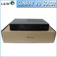 Sunray vu solo 2, 1GB DDR,3D RAM, 1300 MHz MIPS processor ,BCM3445KMLGP11 main chip, satellite receiver vu solo2 free shipping