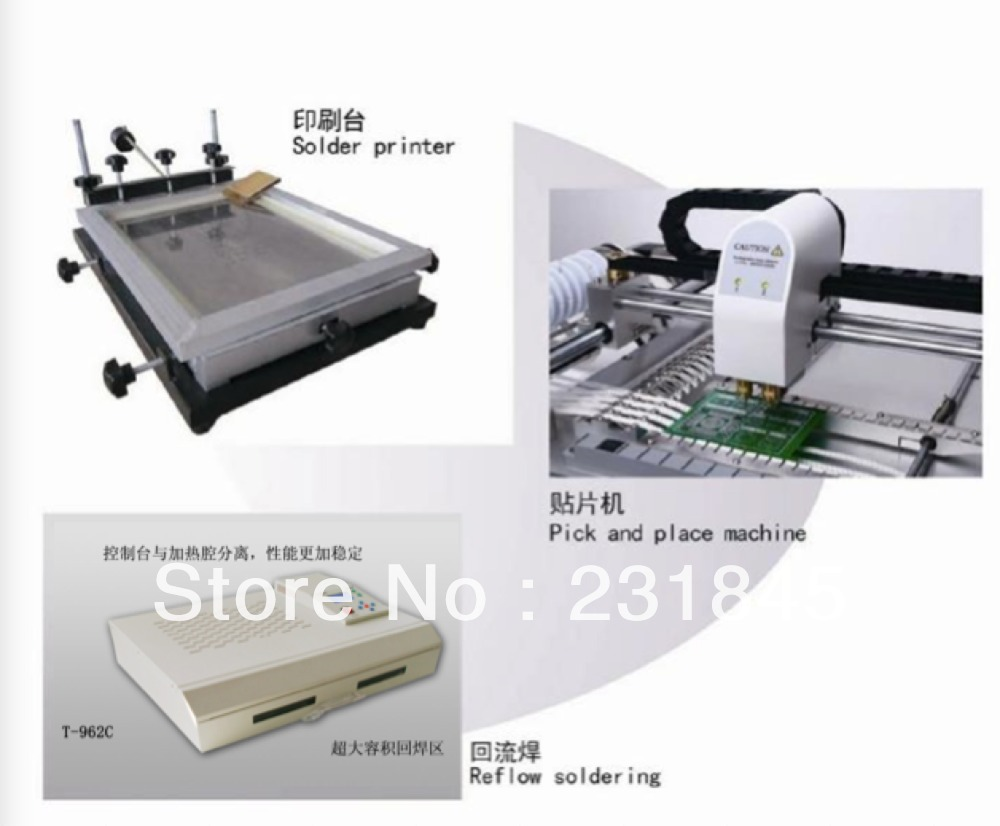 Production Line--Best Selling Retail Items,Small Desktop Pick And Place MachineTM220A&Reflow OvenT962C&SMT Printer,Manufacturer(China (Mainland))