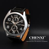 New 2013 Hot Sale Brand Vintage Men Quartz Watch Genuine Leather Strap Watches Box Gift Relogio Masculino Free Shipping 021C