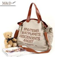 2014 Hot sale letter Casual Canvas Bag Women's Messenger Bags Lady Handbag Shoulder bag Free shippment factory price
