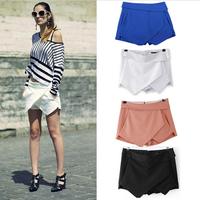 Women's Summer Fashion OL  brand Candy Colors Chiffon Tiered Zipped-up Short Mini Shorts  Skirts  JOY051