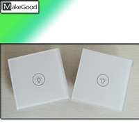 Hotel Modern Style Double Way 1 Gang Touch Switch