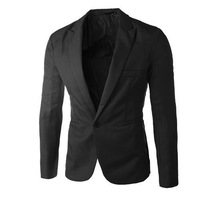 Free Shipping Men Casual one button Blazers TOP Design Sexy Slim FIT Jacket Coats Suits 7 colours 4 sizes