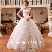 2014 vestido de novia casamento mariage cheap gown bride sexy fashionable vintage plus size cristal wedding dress WDB210